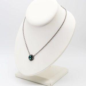 Jewelry - Emerald green Rivoli crystal pendant necklace
